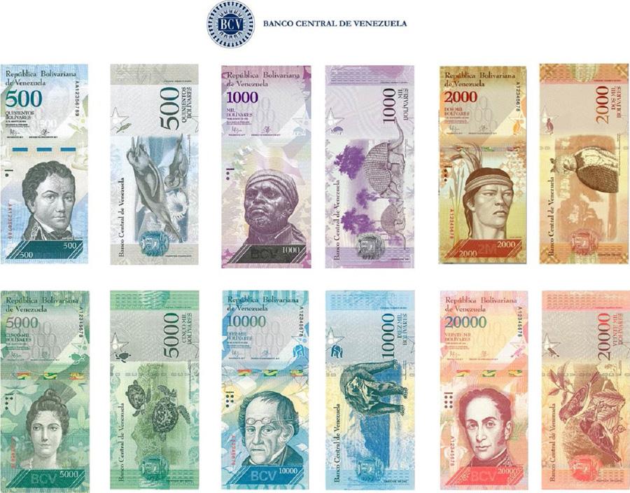 Venezuela presenta nuevos billetes con mayor valor  en una situación de gran inflación