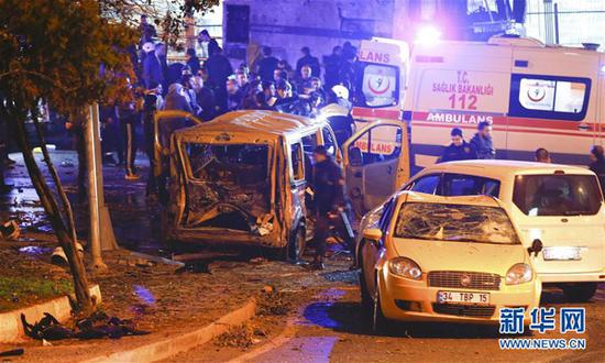Turkey declared a day of national mourning on Sunday for the victims of twin bombing attacks that hit central Istanbul overnight and left 38 dead.