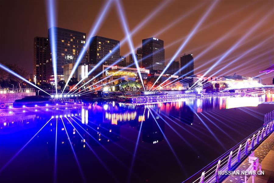 """В Нинбо открылся фестиваль иллюминации """"Время собирать свет"""""""