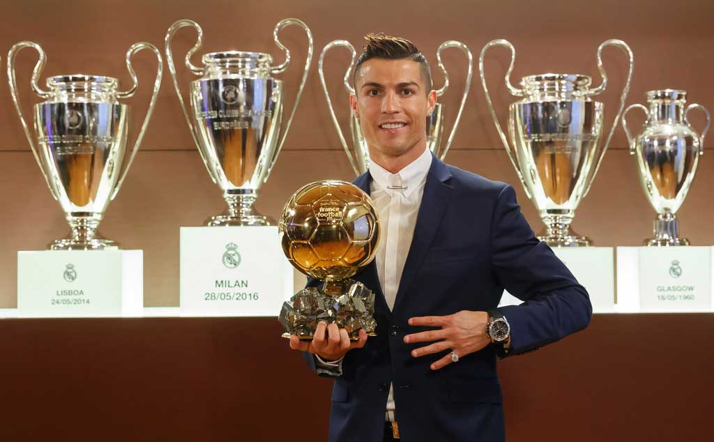 Cristiano Ronaldo wins fourth honor