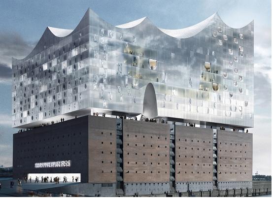 德国汉堡易北爱乐音乐厅揭开面纱