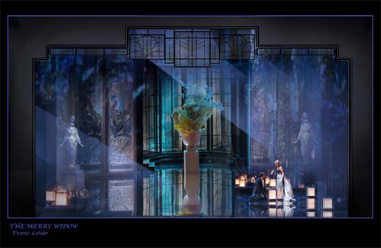 歌剧《风流寡妇》舞美图
