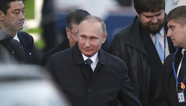 Российский президент прибыл в аэропорт Ямагути-Убе