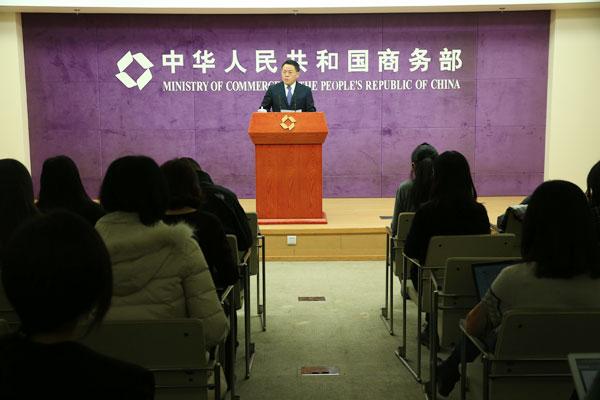 Сунь Цзивэнь, Пресс-секретарь Министерства коммерции КНР
