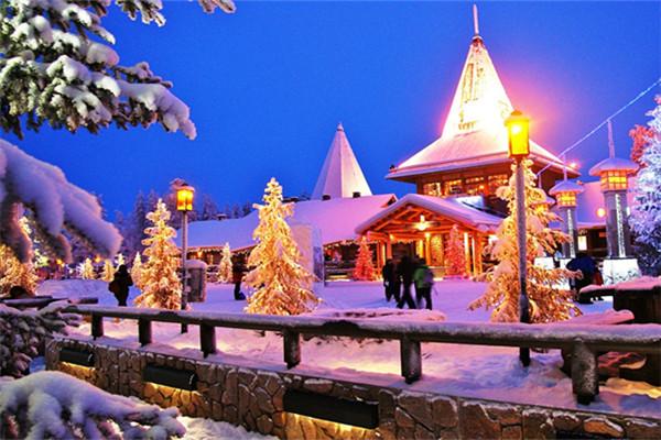 Santa Claus Village in Finnish Lapland.