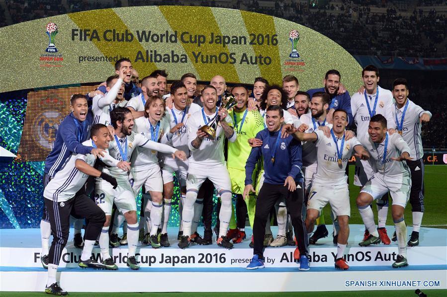 El Real Madrid derrotó al Kashima Antlers en la final de la Copa Mundial de Clubes Japón 2016. (Xinhua/Ma Ping)