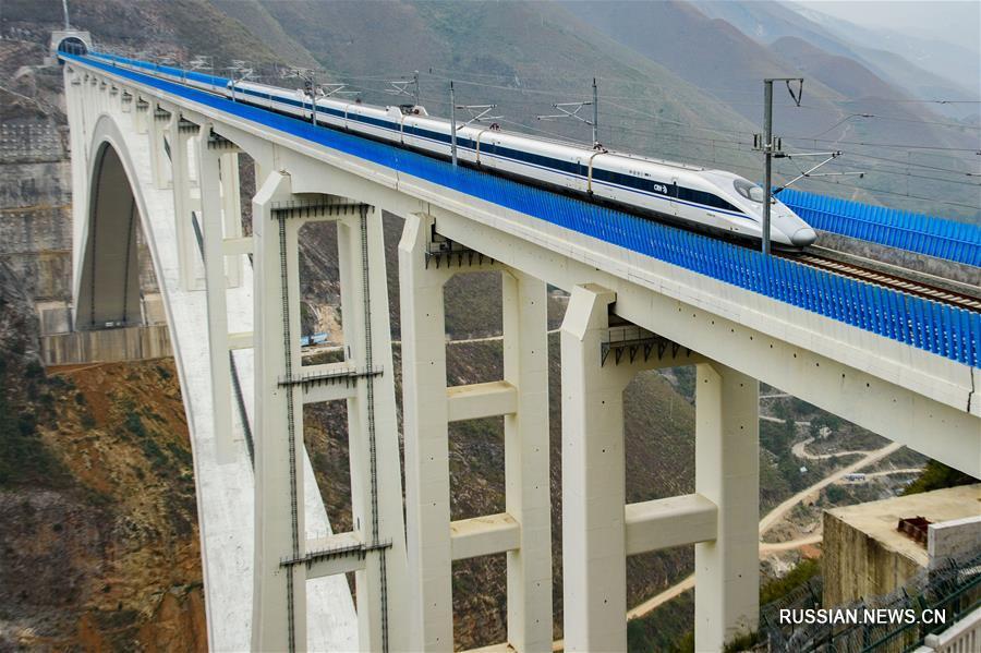 Высокоскоростная железная дорога Шанхай -- Куньмин скоро будет полностью введена в эксплуатацию