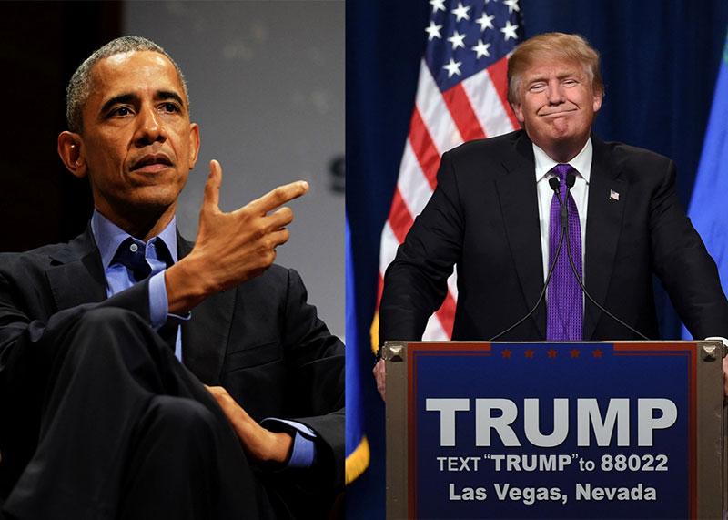 Le président Obama presse Donald Trump d