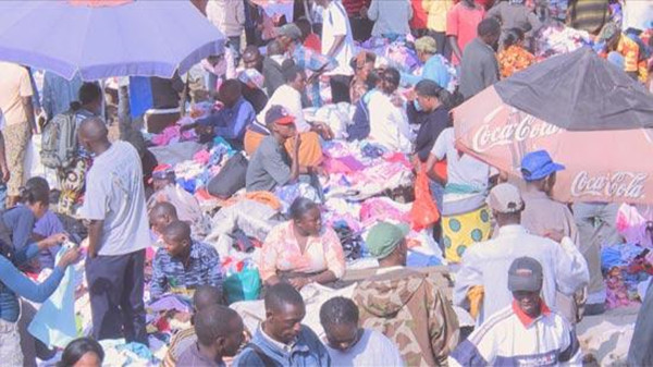The biggest second-hand clothing market in East Africa, Gikomba.