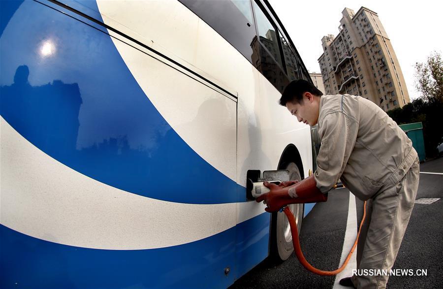Новое экологичное депо для электробусов в Шанхае