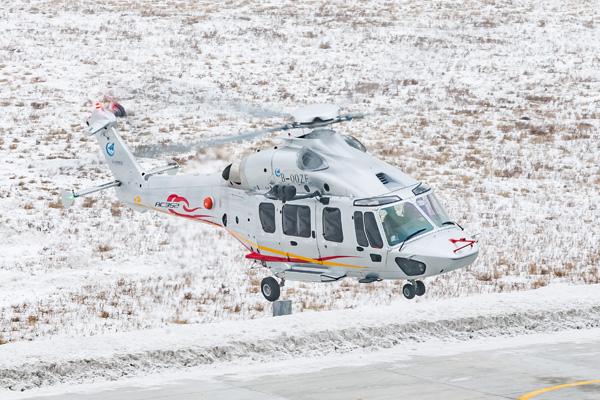 Helicóptero para 16 pasajeros hecho por China y Francia realiza su vuelo inaugural en Harbin