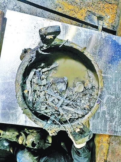Des restes alimentaires vieux de 2000 ans trouvés dans une tombe