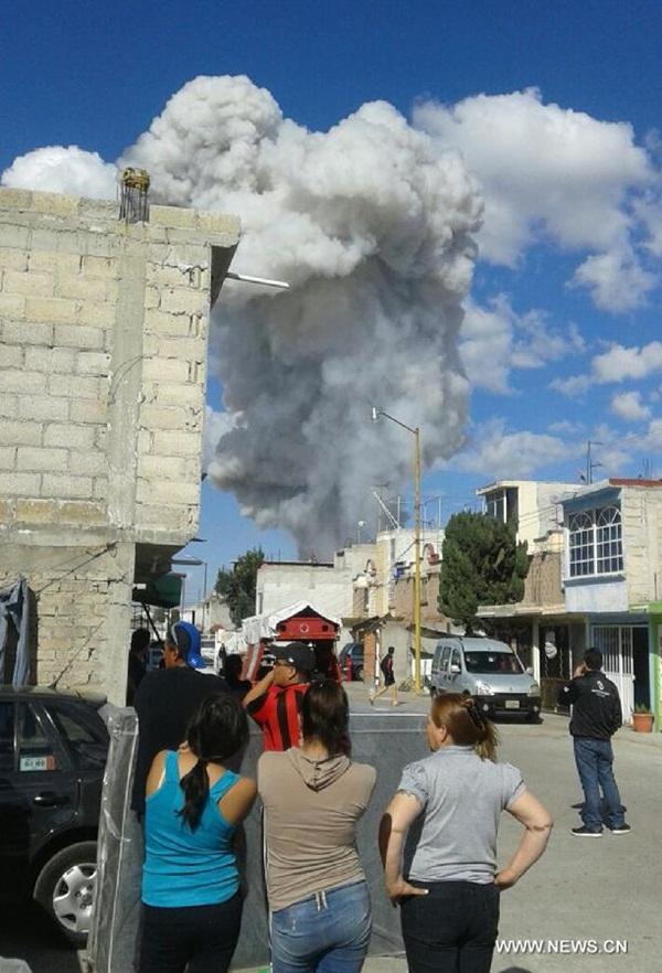 اصابة 60 على الاقل في انفجار قرب مكسيكو سيتي