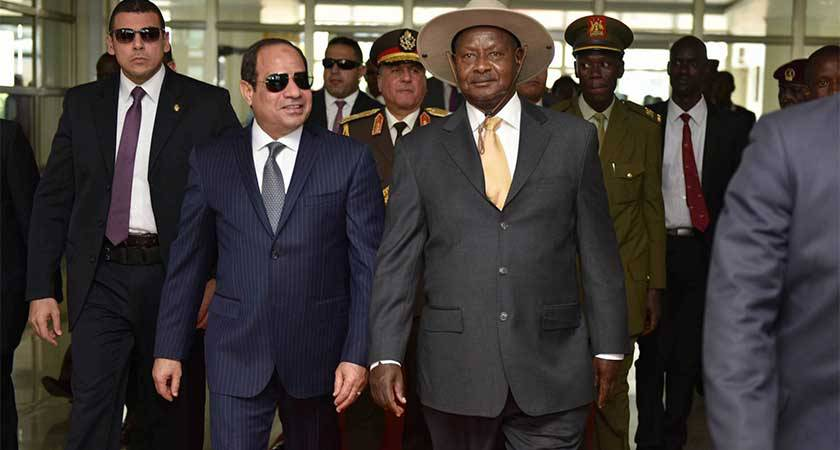 Le président égyptien en visite d'État d'un jour en Ouganda