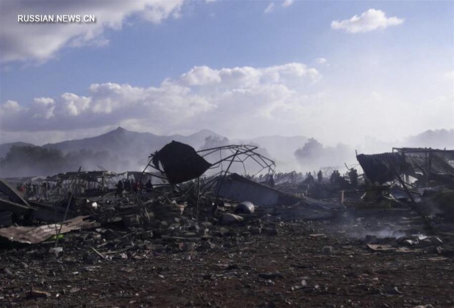 Число погибших при взрыве на рынке пиротехники в Мексике достигло 29 человек
