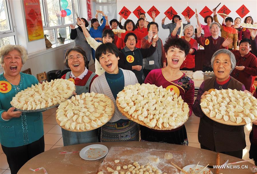 El norte de China celebra cambio de estación con jiaozis