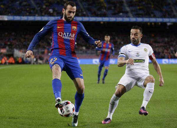 Fútbol: El Barcelona golea 7-0 al Hércules y se mete en octavos de final