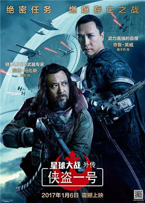 奇鲁·英威(甄子丹饰)与贝兹·马彪斯(姜文饰)双人海报