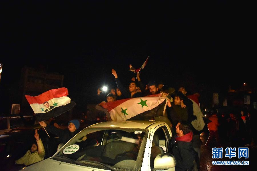 Los residentes de Alepo celebran la liberación