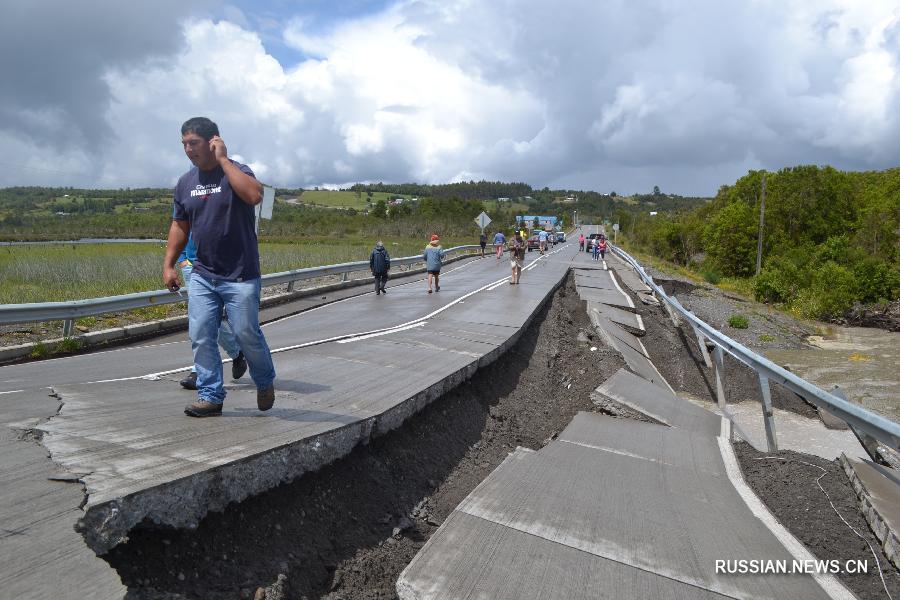 Мощное землетрясение произошло в Чили, информации о погибших нет