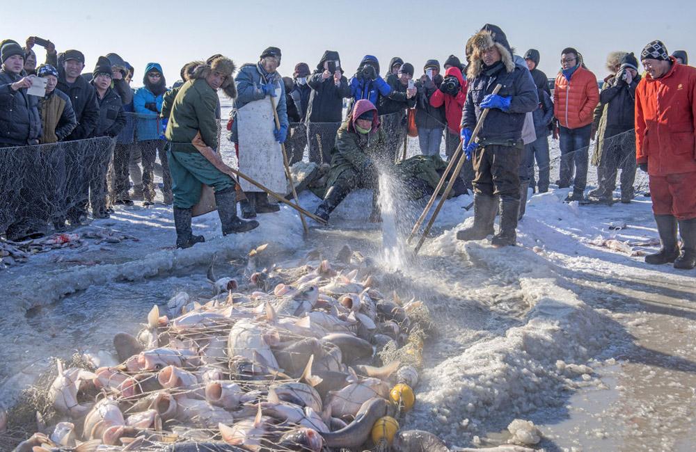 Comienza el festival de pesca en hielo del nordeste de China