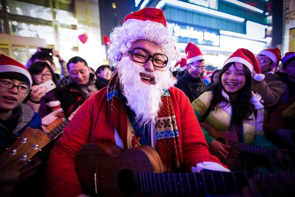 Navidades ganan popularidad en China