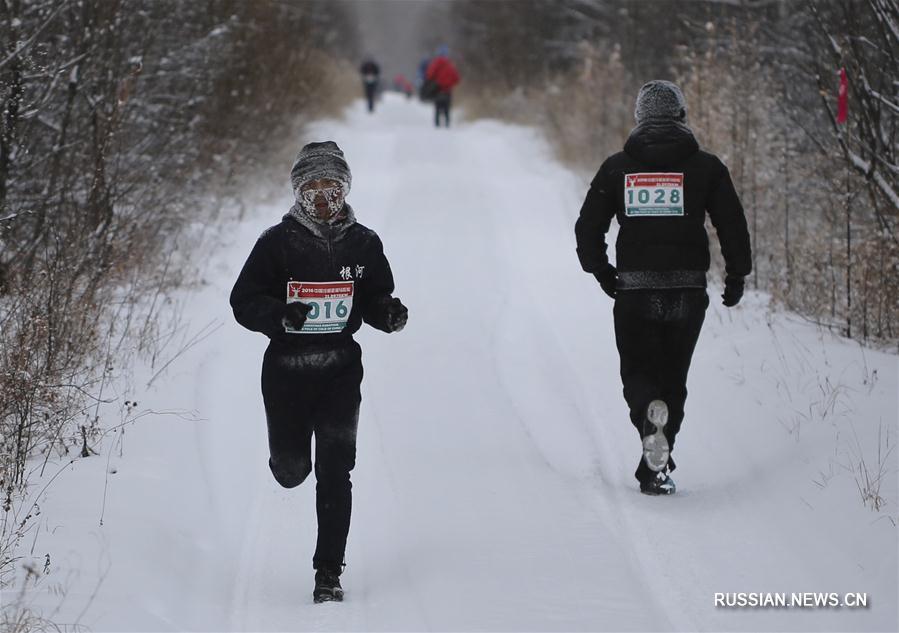 """Рождественский марафон на китайском """"полюсе холода"""""""