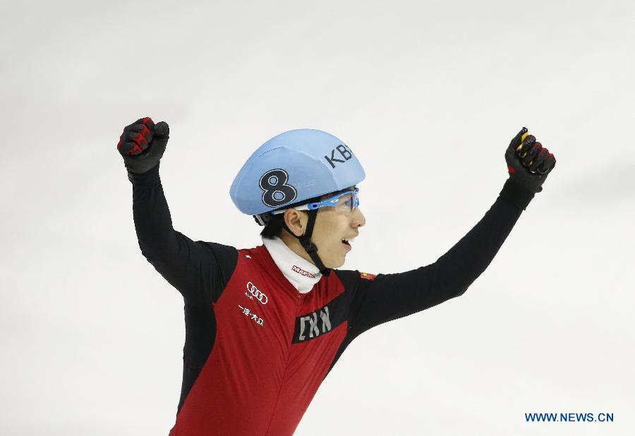 Han Tianyu, patineur de vitesse sur piste courte chinois. Il a remporté la médaille d