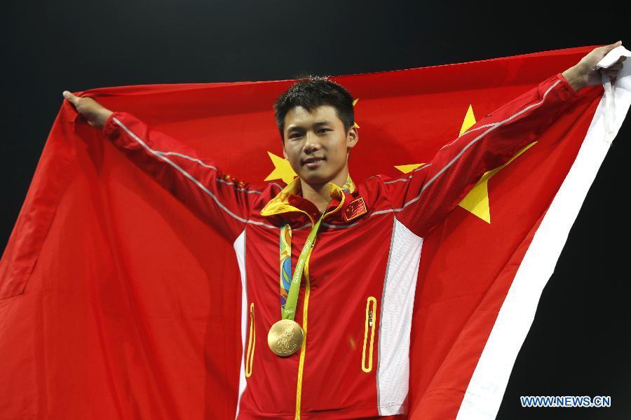 Chen Aisen, plongeur chinois. Le Chinois Chen Aisen a remporté le 20 août 2016 la médaille d