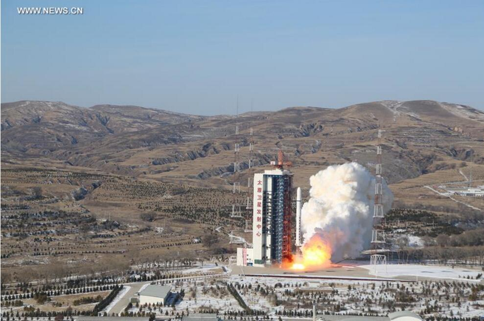 A Long March 2D rocket carrying a pair of 0.5-meter high-resolution remote sensing satellites, SuperView-1 01/02, blasts off from the launch pad at the Taiyuan Satellite Launch Center in north China
