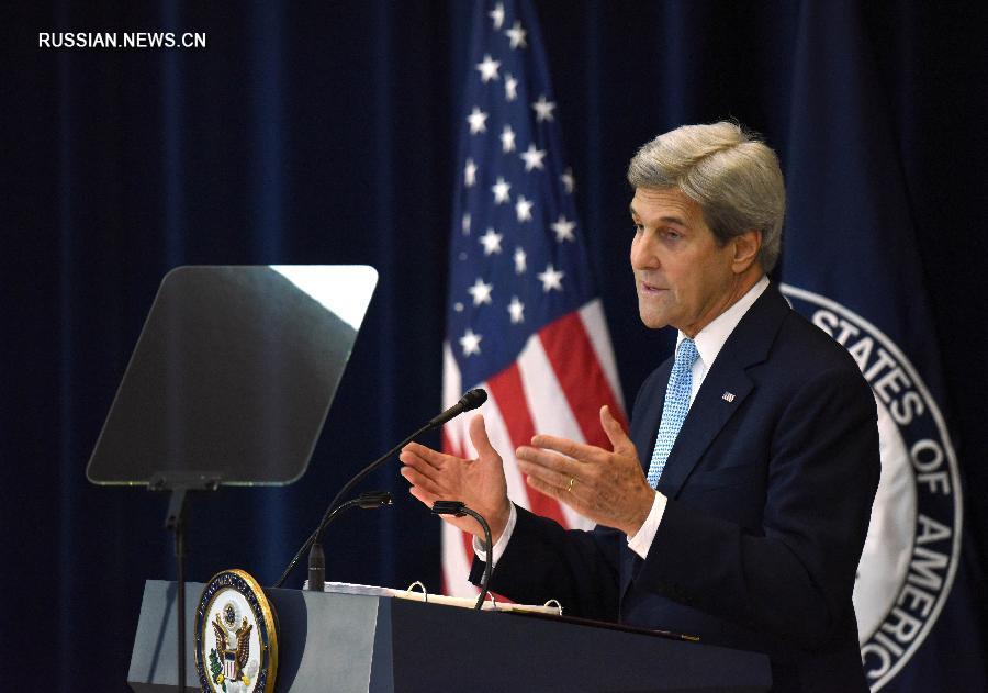 Только решение двух государств является путем к достижению мира между Израилем и Палестиной -- Дж.Керри