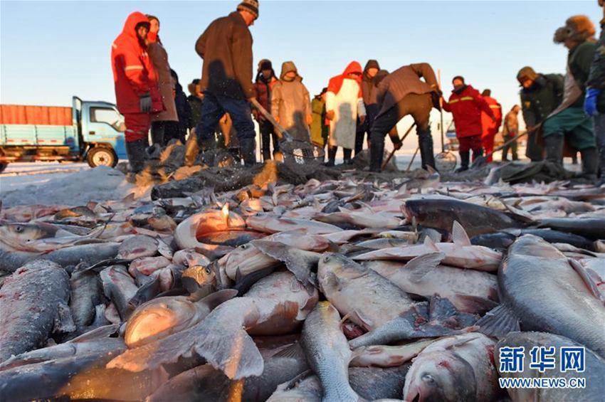 Festival du tourisme de la culture de la pêche sur glace du lac Chagan