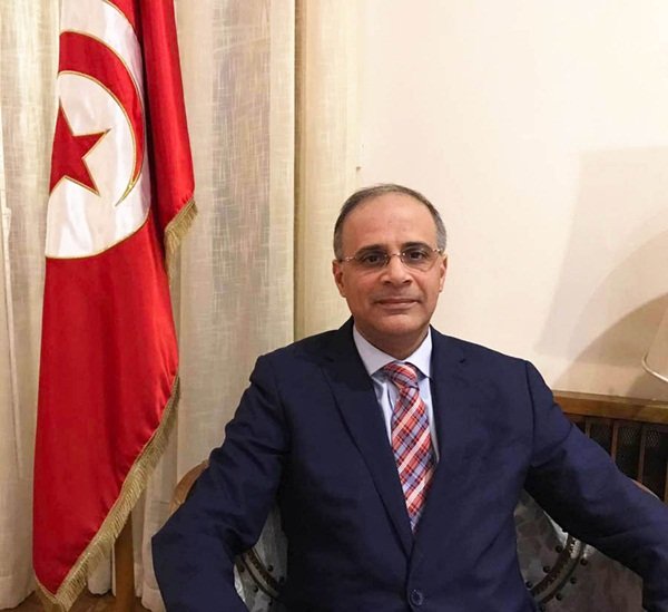 السفير التونسي لدى بكين ضياء خالد
