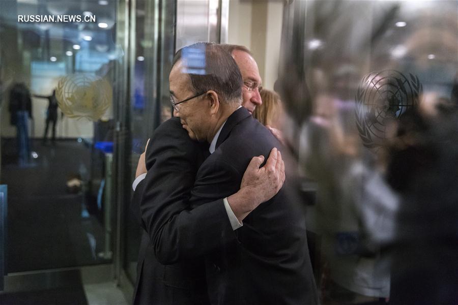 Пан Ги Мун попрощался с ООН