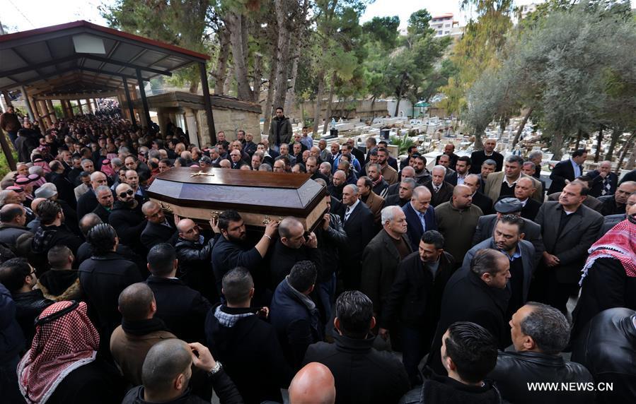تشييع جثمان أحد الضحايا الأردنيين في هجوم ملهى اسطنبول