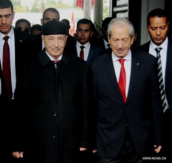 رئيس البرلمان التونسي يلتقي نظيره الليبي في تونس