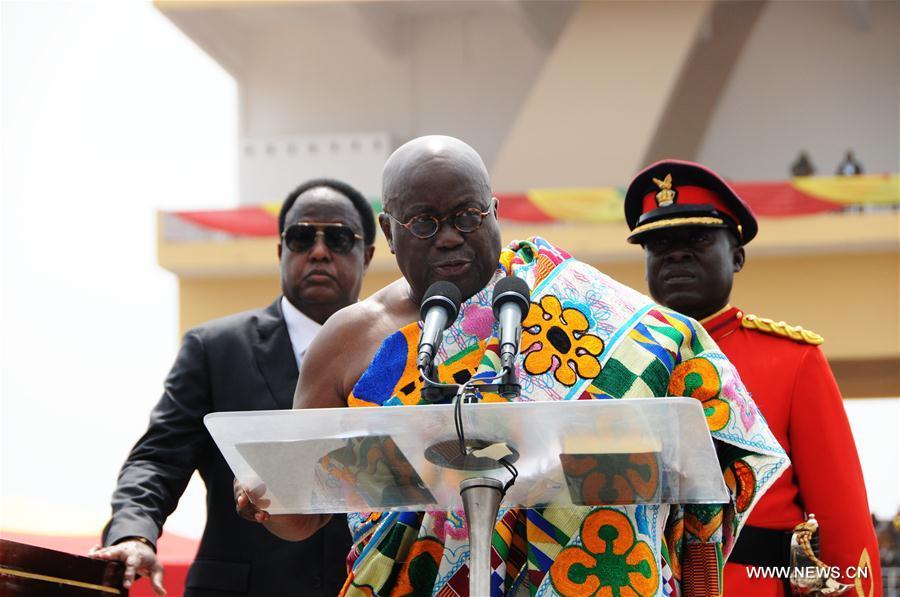 Ghana : Akufo-Addo prête serment pour devenir nouveau président