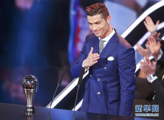 Cristiano Ronaldo, à nouveau sacré joueur de l