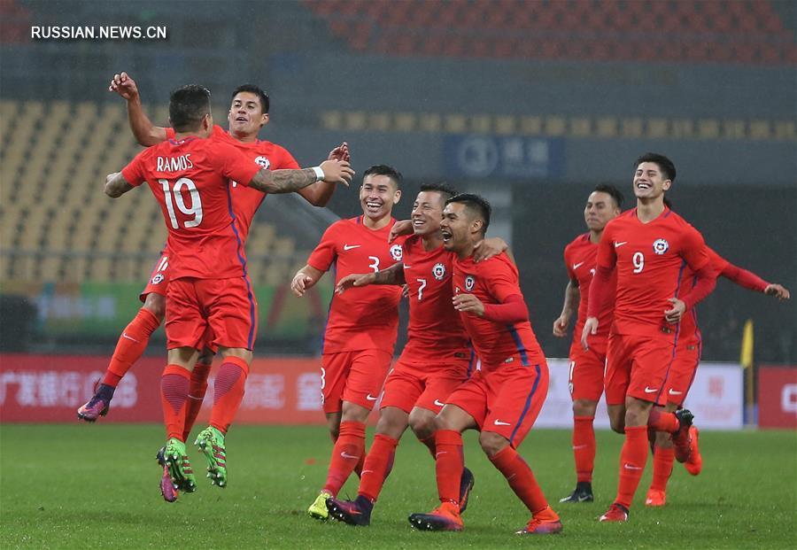 "Футбол -- Международный турнир ""Кубок Китая"": Чили -- Хорватия"