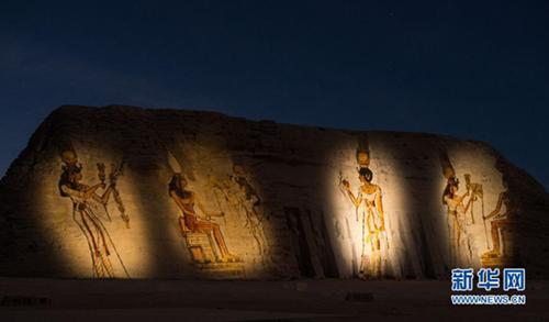الموقع الأثري أبو سمبل في محافظة أسوان