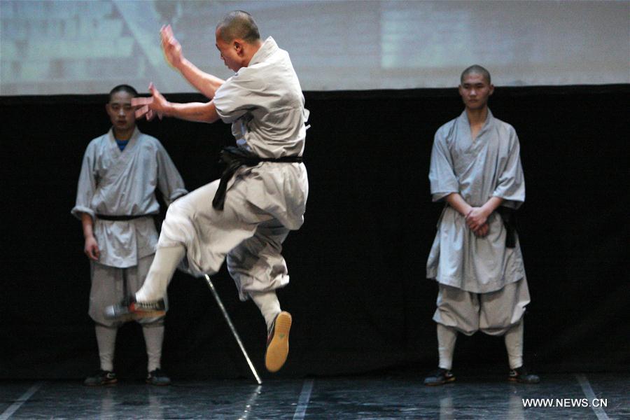 Représentation d'arts martiaux du Temple Shaolin impressionne Chypre