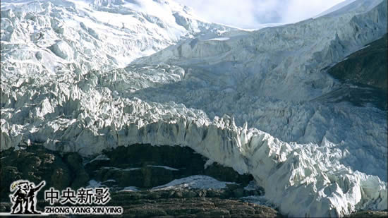 青藏高原冰川融化