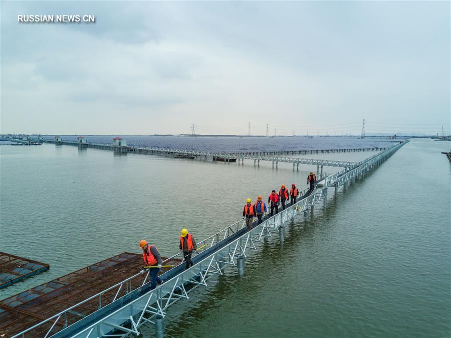 На востоке Китая в эксплуатацию сдали новые солнечные электростанции