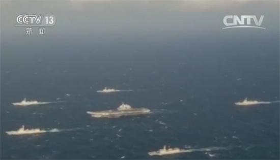 航母编队完成训练试验任务返航军事频道