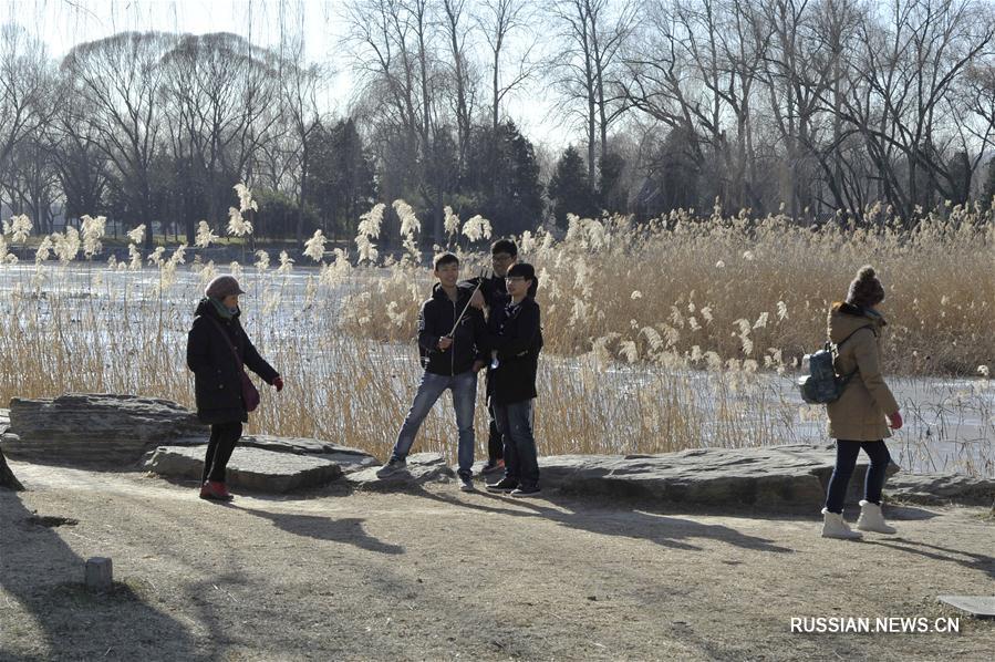 Парк Ихэюань в зимний день