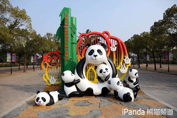 中国大熊猫保护研究中心上海基地装扮一新迎新年