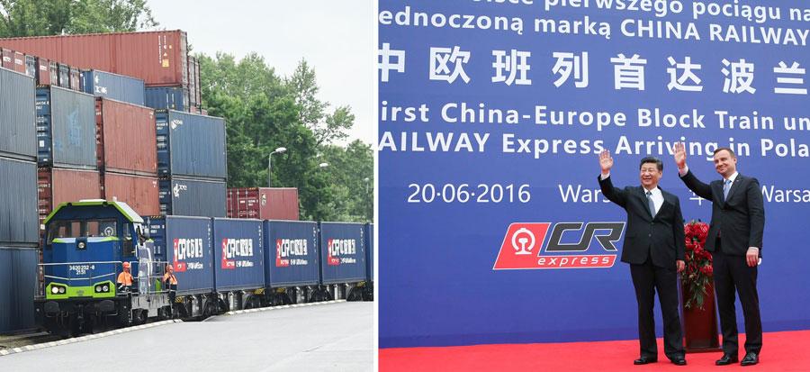Le président chinois Xi Jinping et son homologue polonais Andrzej Duda assistent le 20 juin 2016 à Varsovie à la cérémonie d