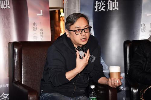 影评人张小北担任《降临》映后活动主持人