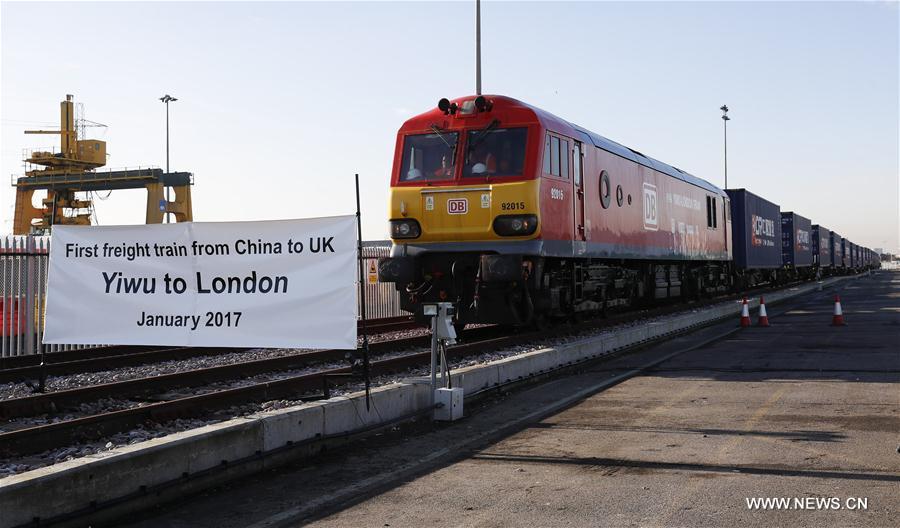 В Лондон прибыл первый грузовой железнодорожный состав из Китая