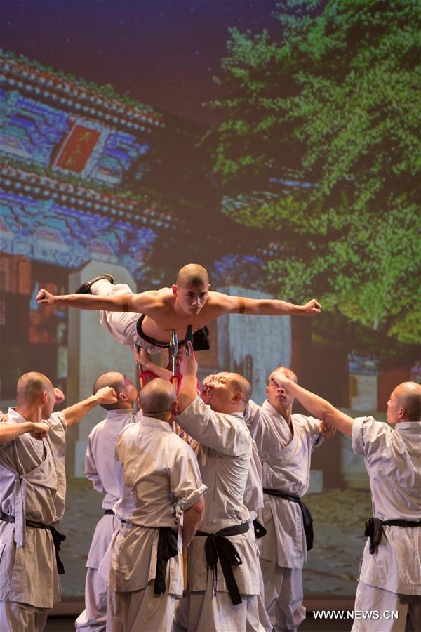 Мастера ушу из Шаолиня выступили в Тель-Авиве